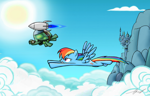 Tank and Dashie by OinkTweetStudios