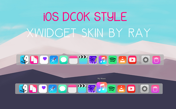 iOS Dock Style WXidget skin by Ray by Raiiy