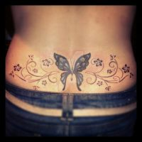 Butterfly back tattoo by Malitia-tattoo89