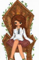 On her throne. by EmmilliaBedillia