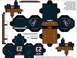 Arian Foster Texans Cubee by etchings13