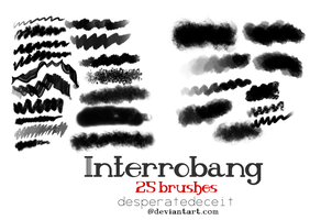 Interrobang Painting Brushes by desperatedeceit