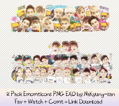Share Pack Emoticons EXO by NaKyung-san