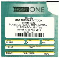 CD9: The Party Tour Ticket by Coder-Sky