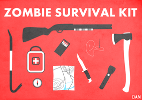 Zombie Survival Kit by BantamArt