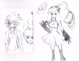 Crista and Mawilady sketches by raseru09