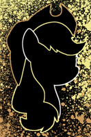 Applejack Splat iPod/iPhone Wallpaper by AlphaMuppet