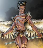 Angel Warrior - Detail by MrOrozco