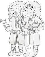 Fili and Kili ... at your service by M0nzteer