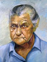 Old woman with oil by Infinitely