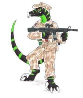 AT-Blargg's Raptor Anthro by Scatha-the-Worm