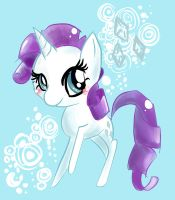 Rarity Chibi by GeekPony