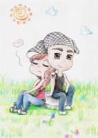 Bego and Gonzalo Chibi by Rakechan