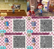 Animal Crossing: New Leaf - Striped Tee with Scarf by coffeetalks