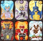 ACEO-Set - Attack of the Elements by Oukami-SuGo