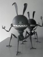 Rabbots!!!!! by e47art