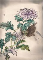 Chinese Painting - Purple Lily by Jenny-Cat-Miaow