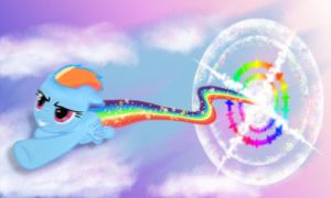 Sonic Rainboom by Apodes