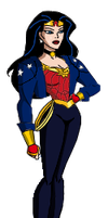 WW New costume DCAU style by Azraeuz