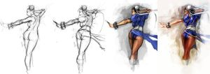 Chun Li - Process by aditya777