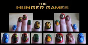 Hunger Games Nails by Stephanie-Chivas