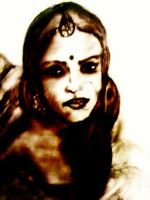 Princess - Done in Charcoal by manojart