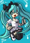 Miku Hatsune Cute Jumping by MarisaArtist