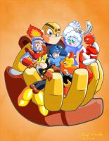 Megaman Light Brothers by coreylandis