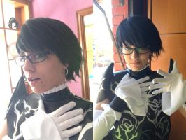 Bayonetta's 2 cosplay - The neck is done! Close UP by JudyHelsing