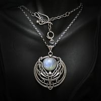AXANTUNH silver and moonstone by LUNARIEEN