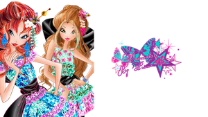 Winx Club Flora and Bloom Couture - PNGs! by PrincessBloom93