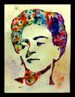 Frida Kahlo Watercolor by LordColinOneal