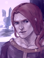 Maedhros in Aman by Maureval