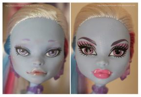 Repainting VS Factory Makeup: Abbey Bominable III by MySweetQueen-Dolls