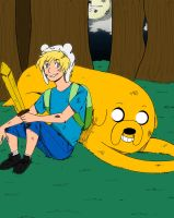 AT- Finn and Jake by InsaneHamburgers