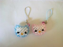 Hello Kitty Keychain by BrightenYourSmile