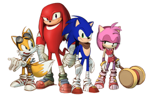 SONIC BOOM TEAM SONIC CLEAN RENDER by Z-ONE-UNIVERSE