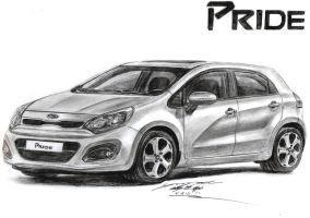 2013 Kia Rio SLX Premium 1.6 GDi Hatchback drawing by toyonda