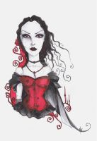 The Red Corset by MADmoiselleMeli