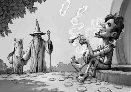 gandalf arrival (greyscale) not finish by JesusAConde
