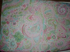 Abstract Pink and Green by thesleepydrummer