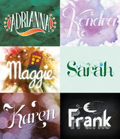 Hand Lettered Names by HannahEngland