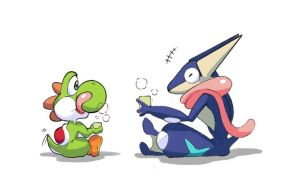 CHeers for greninja and yoshi getting in by Wonder-Bun