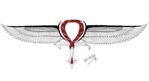 Winged Ankh ver3 by redLillith