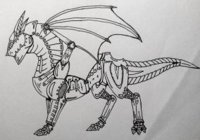 Mechanical Dragon by RebelInABox