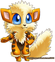 Anthro Arcanine Chibi by WindieDragon