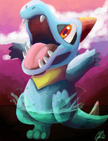 Totodile in Sai remake by Phatmon