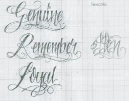 Tattoo Lettering 36 by 12KathyLees12