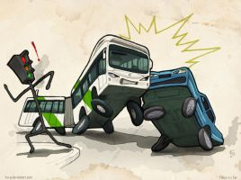 TS.Bus Vs Car by Fco-G