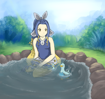 In the pond by Yufika